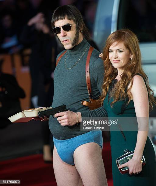 Sacha Baron Cohen and Isla Fisher arrive for the World premiere of 'Grimsby' at Odeon Leicester Square on February 22 2016 in London England