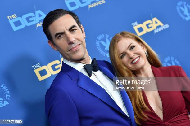 Sacha Baron Cohen and Isla Fisher attend the 71st Annual Directors Guild of America Awards at The Ray Dolby Ballroom at Hollywood & Highland Center...