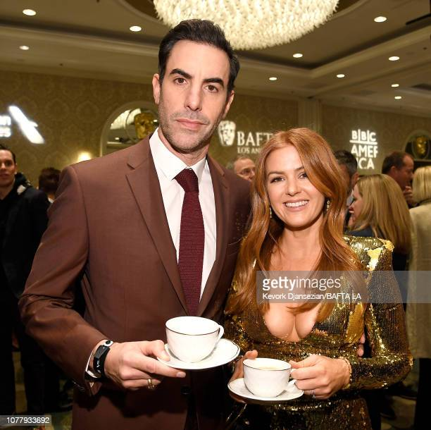 Sacha Baron Cohen and Isla Fisher attend The BAFTA Los Angeles Tea Party at Four Seasons Hotel Los Angeles at Beverly Hills on January 5 2019 in Los...
