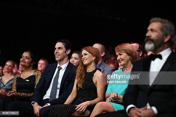 Sacha Baron Cohen and Isla Fisher during the 6th AACTA Awards Presented by Foxtel at The Star on December 7 2016 in Sydney Australia