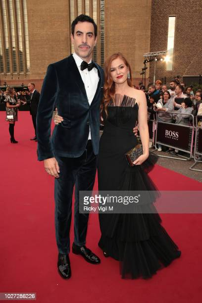 Sacha Baron Cohen and Isla Fisher seen attending GQ Men of the Year Awards at Tate Modern on September 5 2018 in London England