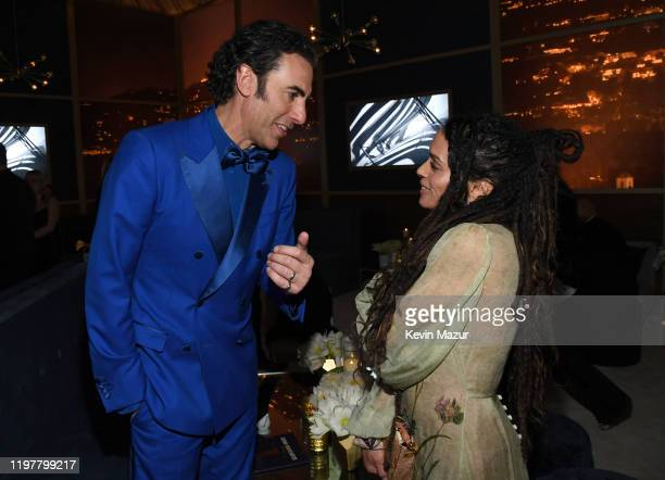 Sacha Baron Cohen and Lisa Bonet attend The 2020 InStyle And Warner Bros 77th Annual Golden Globe Awards PostParty at The Beverly Hilton Hotel on...