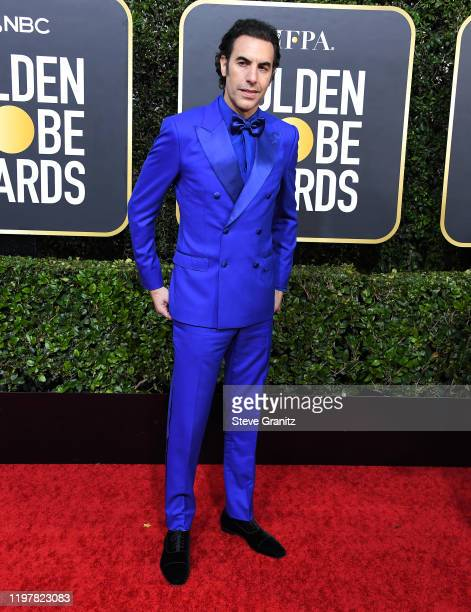 Sacha Baron Cohen arrives at the 77th Annual Golden Globe Awards attends the 77th Annual Golden Globe Awards at The Beverly Hilton Hotel on January...