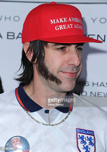 Sacha Baron Cohen arrives at the Premiere Of Columbia Pictures And Village Roadshow Pictures 'The Brothers Grimsby' at Regency Village Theatre on...