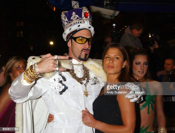 Sacha Baron Cohen as Ali G and Rhona Mitra arriving at the Empire Cinema in London's Leicester Square for the premiere of Ali G InDaHouse