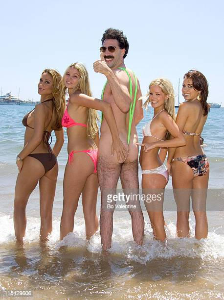 Sacha Baron Cohen as Borat during 2006 Cannes Film Festival Borat Arrives in Cannes in Cannes France