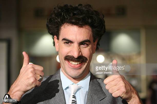 """Sacha Baron Cohen as Borat during """"Borat: Cultural Learnings of America For Make Benefit Glorious Nation of Kazakhstan"""" Premiere - Arrivals at..."""
