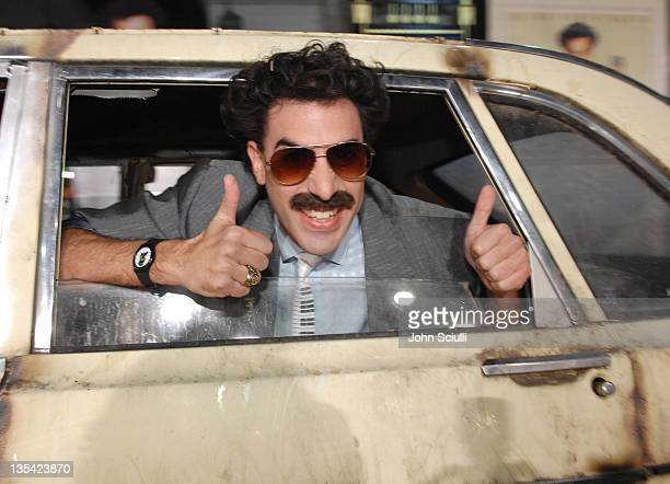 """Sacha Baron Cohen as Borat during World Premiere of """"Borat: Cultural Learnings of America For Make Benefit Glorious Nation of Kazakhstan"""" - Red..."""