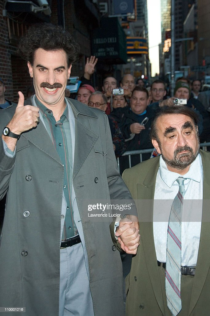 Sacha Baron Cohen (as Borat) Appears Outside Late Show with David Letterman - October 30, 2006 : News Photo