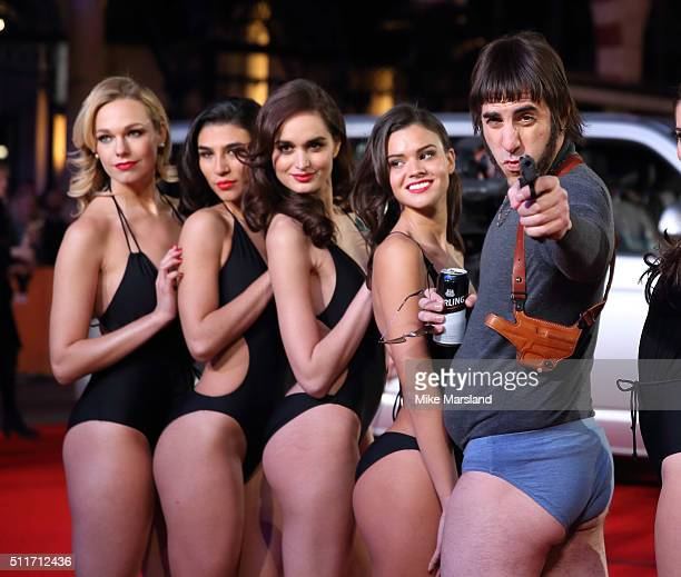 Sacha Baron Cohen as character Norman 'Nobby' Grimsby as he arrives for the World premiere of 'Grimsby' at Odeon Leicester Square on February 22 2016...