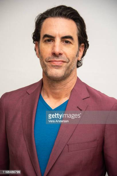 """Sacha Baron Cohen at the """"The Spy"""" Press Conference at the Four Seasons Hotel on August 16, 2019 in Beverly Hills, California."""
