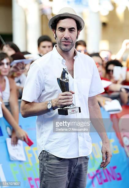 Sacha Baron Cohen attends 2013 Giffoni Film Festival blue carpet on July 28 2013 in Giffoni Valle Piana Italy