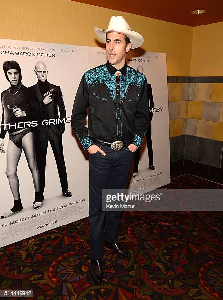 Sacha Baron Cohen attends 'The Brothers Grimsby' fan screening at Regal Union Square on March 8 2016 in New York City