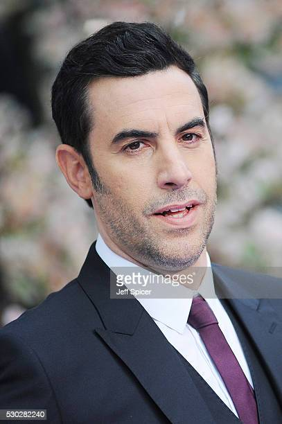 Sacha Baron Cohen attends the European premiere of Alice Through The Looking Glass at Odeon Leicester Square on May 10 2016 in London England