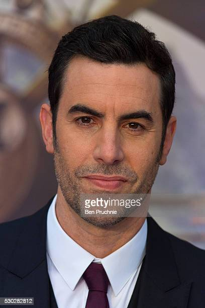 Sacha Baron Cohen attends the European Premiere of 'Alice Through The Looking Glass' at Odeon Leicester Square on May 10 2016 in London England