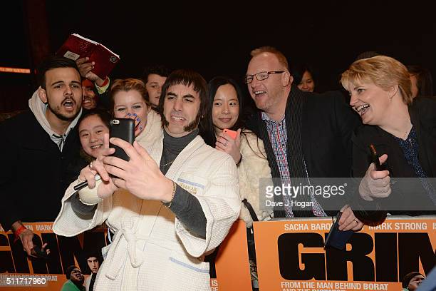 Sacha Baron Cohen attends the World premiere of Grimsby at Odeon Leicester Square on February 22 2016 in London England