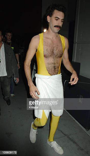 Sacha Baron Cohen during 2005 MTV European Music Awards Lisbon Backstage in Lisbon Portugal