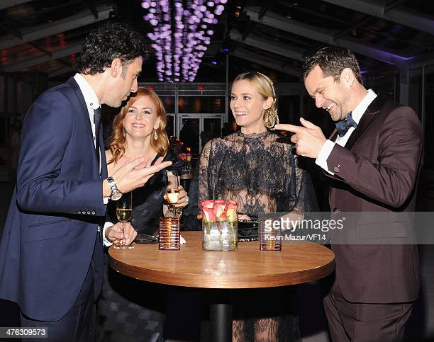 Sacha Baron Cohen Isla Fisher Diane Kruger and Joshua Jackson attend the 2014 Vanity Fair Oscar Party Hosted By Graydon Carter on March 2 2014 in...