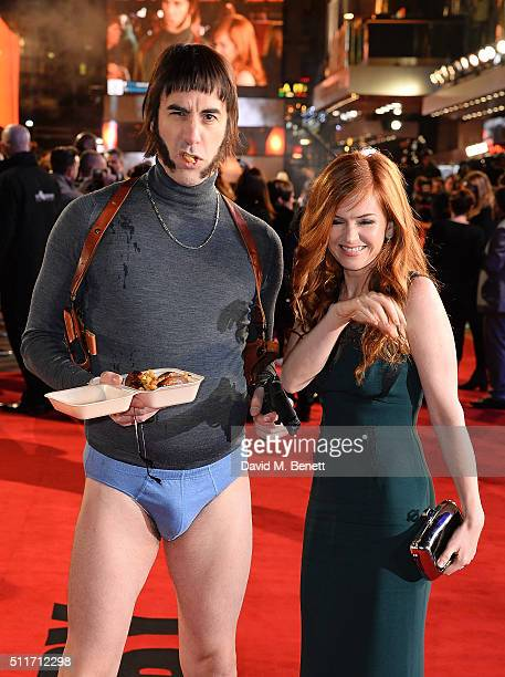 Sacha Baron Cohen Sacha Baron Cohen as character Norman 'Nobby' Grimsby and Isla Fisher attend the World Premiere of 'Grimsby' at Odeon Leicester...