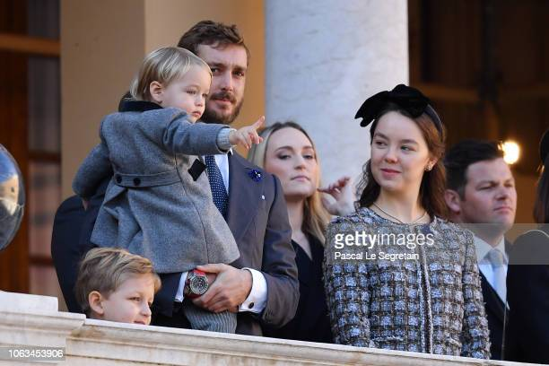 Sacha CasiraghiPierre Casiraghi with his son Stefano CasiraghiRoisin Galvin Wittstock and Princess Alexandra of Hanover attend Monaco National Day...