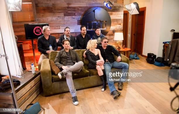 Sacha Chaban Brandon Menchen Thomas Jane Anne Heche Peter Facinelli Peter Winther and Sasha Yelaun behind the scenes at 3rd Annual Mammoth Film...