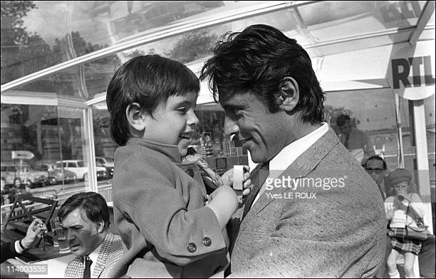 Sacha Distel and family in France on May 09, 1969-Sacha with son Julien.