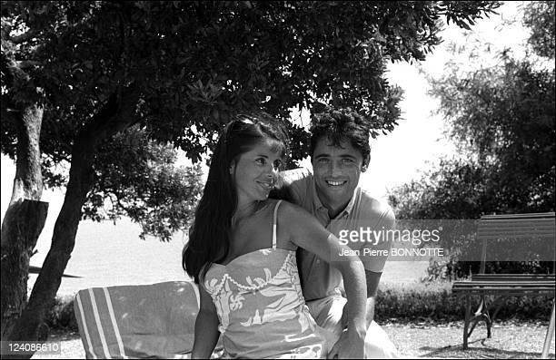 Sacha Distel and wife Francine In Saint Tropez France In April 1967 Sacha Distel and wife Francine
