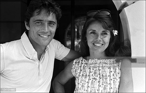 Sacha Distel on holiday In Saint Tropez France In June 1969 With Francine