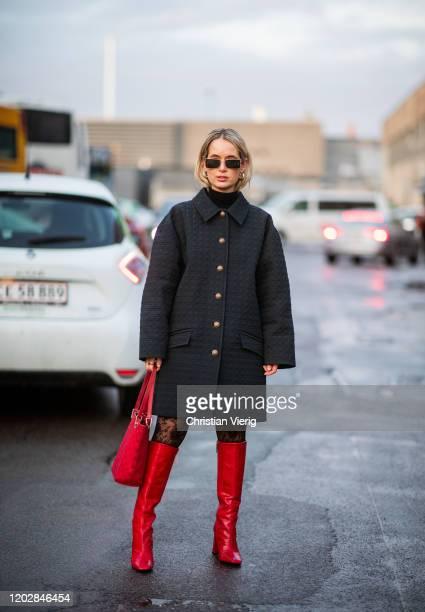 Sacha Elisabeth Anne seen outside Stine Goya during Copenhagen Fashion Week Autumn/Winter 2020 Day 2 on January 29, 2020 in Copenhagen, Denmark.