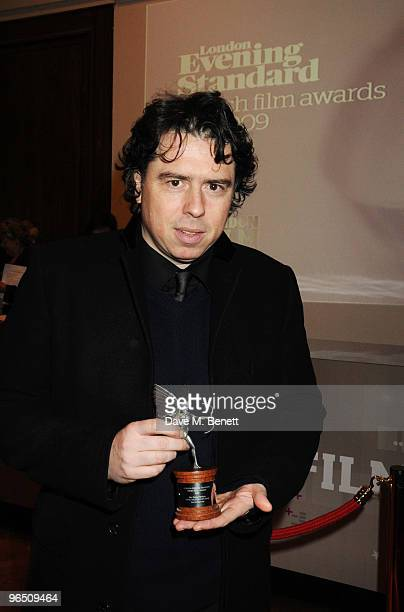 Sacha Gervasi with his Best Documentary Award for 'Anvil The Story of Anvil' attends the London Evening Standard British Film Awards 2010 at The...