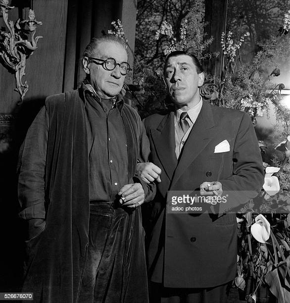 Sacha Guitry and Fernandel In 1953