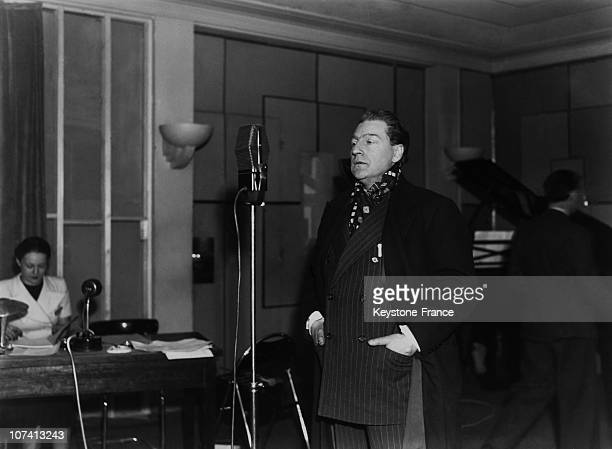 Sacha Gutry S Radio Conference On April 1935