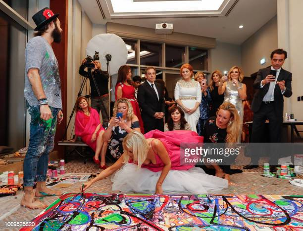 Sacha Jafri and Caroline Stanbury attend the Artists for Peace and Justice Bovet 1822 Gala on December 7 2018 in Dubai United Arab Emirates Photo by...