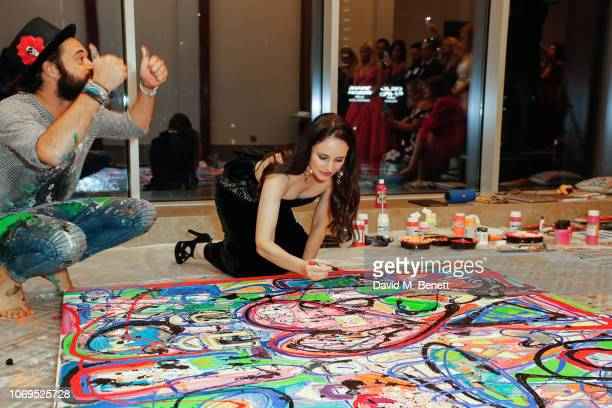 Sacha Jafri and Madeleine Stowe attend the Artists for Peace and Justice Bovet 1822 Gala on December 7 2018 in Dubai United Arab Emirates Photo by...