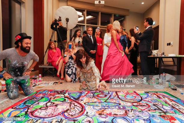 Sacha Jafri and Natalie Imbruglia attend the Artists for Peace and Justice Bovet 1822 Gala on December 7 2018 in Dubai United Arab Emirates Photo by...