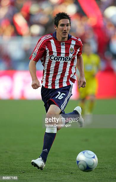 Sacha Kljestan of Chivas USA paces the ball during the MLS match against the Columbus Crew at The Home Depot Center on April 5 2009 in Carson...