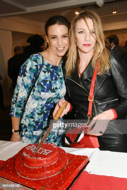 Sacha Lucas and Judith Beller attend the 'Bel RP' 10th Anniversary at Atelier Sevigne on April 10 2018 in Paris France