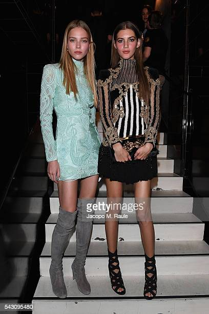 Sacha Luss and Valery Kaufman attend the Balmain Menswear Spring/Summer 2017 after party as part of Paris Fashion Week at Les Bains on June 25 2016...