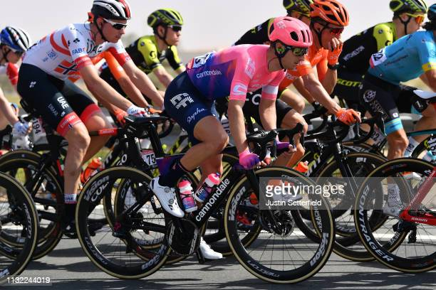 Sacha Modolo of Italy and Team EF Education First / during the 5th UAE Tour 2019 Stage 3 a 179km stage from Al Ain to Jebel Hafeet 1024m / #UAETour /...