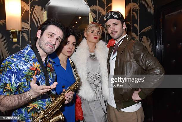 Sacha Naigard as saxophonist Jimmy Doyle in New York New York singers Zazon Kym Thiriot and musician/DJ Thomas Lavernhe as Howard Hughes in the...