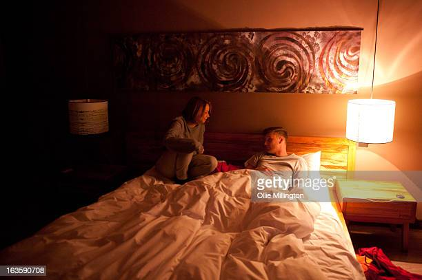 Sacha Parkinson and Charlee Drew during shooting on the set of Charlee Drew's new music video for 'Somebody else' at Hotel Maiyango on March 12, 2013...