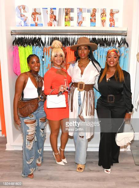 Sacha, Saweetie, Jennifer Bell Cornelius, and Princess Banton-Lofters attend Saweetie x Matte Collection Launch at Matte Collection Store Phipps...