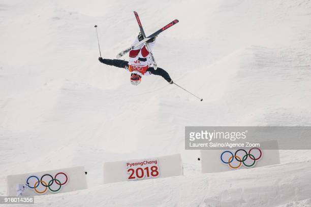 Sacha Theocharis of France competes during the Freestyle Skiing Men's Women's Moguls Qualifications at Pheonix Snow Park on February 9 2018 in...
