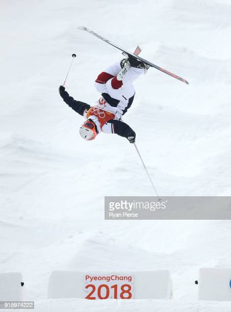 Sacha Theocharis of France competes during the Men's Freestyle Skiing Moguls qualification ahead of the PyeongChang 2018 Winter Olympic Games at...