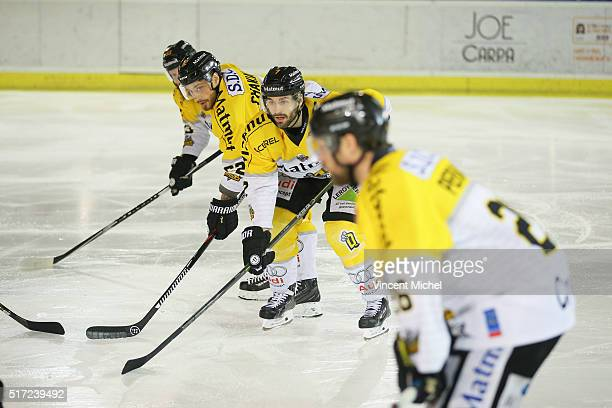Sacha Treille of Rouen during the Ice hockey Ligue Magnus Final second game between Les Ducs d'Angers v Les Dragons de Rouen on March 23 2016 in...