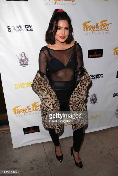 Sacheen Medford attends the premiere of Comedy Dynamics' The Fury of the Fist and the Golden Fleece at Laemmle's Music Hall 3 on May 24 2018 in...