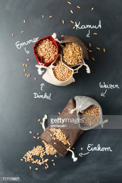 Sachet with different sorts of grains