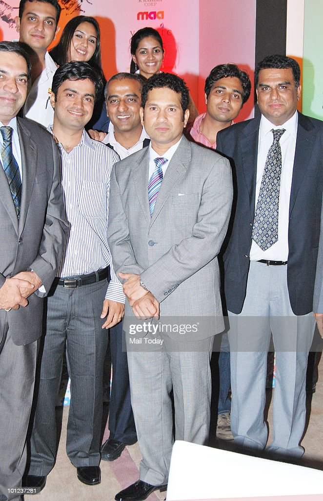 Sachin Tendulkar at an event to raise funds for cancer-affected children in Mumbai on May 27, 2010.