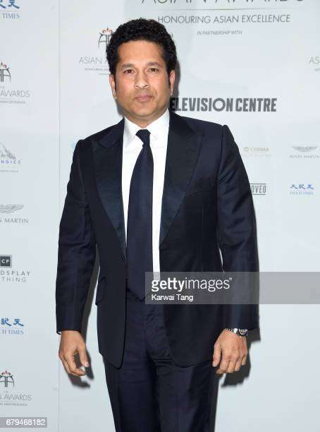 Sachin Tendulkar attends The Asian Awards at the Hilton Park Lane on May 5, 2017 in London, England.