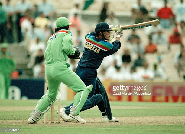 Sachin Tendulkar batting for India during the World Cup match between Pakistan and India at the Sydney Cricket Ground 4th March 1992 The Pakistan...